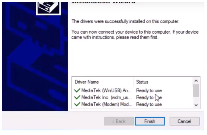 Finish MTK USB Driver - MediaTek for Oppo,